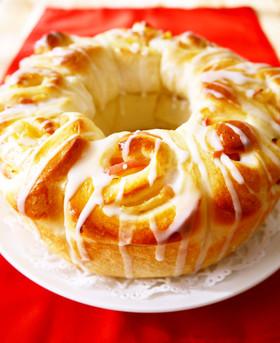 Xmas♪アップルリング☆林檎ちぎりパン
