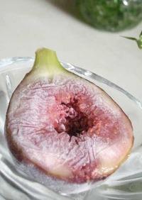 いちじく冷凍保存のヘルシーアイス*