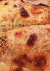 サーモンチーズのオーブン焼き☆簡単すぎる