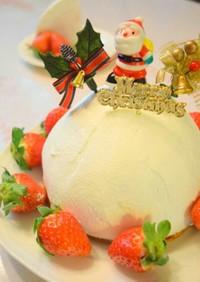 ストロベリー☆チーズムースのドームケーキ
