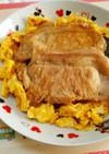 豚生姜のり玉丼