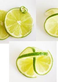 レモン、ライム、オレンジ柑橘類の飾り切り
