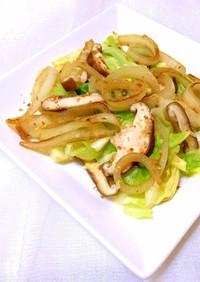 キャベツと玉ねぎのガーリック温サラダ