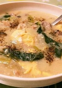 グリーン野菜と豚肉の味噌シチュー