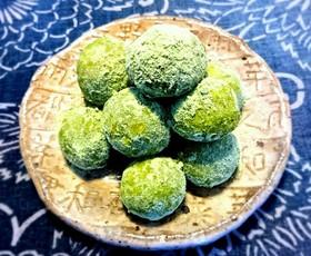うす茶玉(抹茶風味のスノーボール)