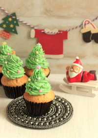 *クリスマスツリー☆ほうじ茶マフィン♪