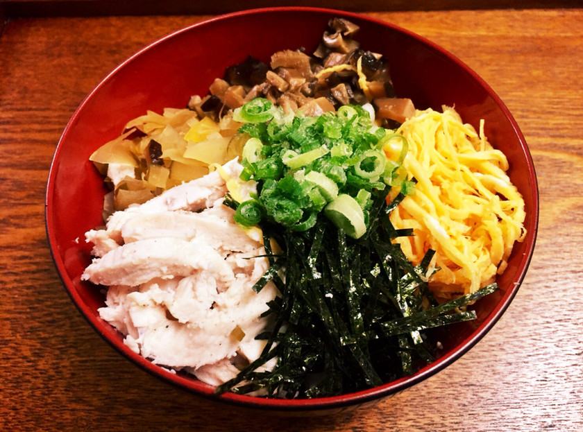 奄美鶏飯の【具材】