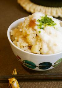 長芋と梅干しの炊き込みご飯 とろろがけ