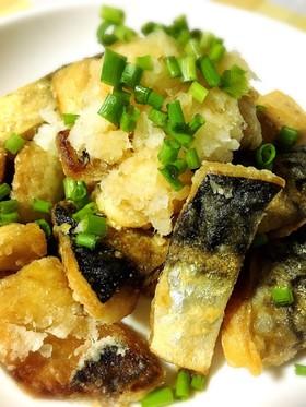 塩鯖の竜田揚げ、おろしポン酢でさっぱりと