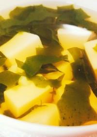 玉子豆腐ですまし汁