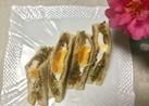 ☆野菜炒めと目玉焼きのトーストサンド☆
