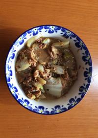 サバ味噌と白菜の煮付け