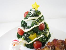 ブロッコリーで作る簡単クリスマスツリー
