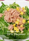 栄養たっぷり春菊と豆苗とシーチキンサラダ
