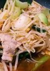 豚肉とチンゲンサイのピリ辛炒め