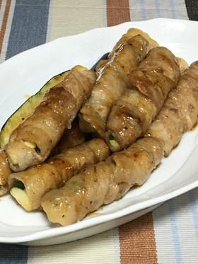 お弁当にも★ズッキーニ豚バラ巻ポン酢炒め