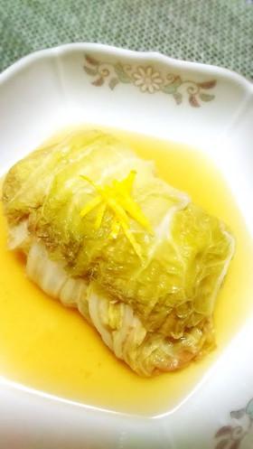 ☆ロール白菜☆和風ダシ♪簡単美味~~^^