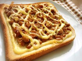 簡単☆納豆トースト