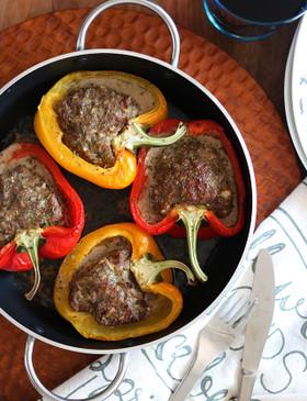 パプリカの肉詰め オーブン焼き