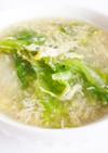 レタスと玉子のかき玉汁風スープ
