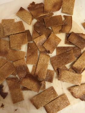 大豆粉とふすまの薄焼きクッキー