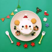 離乳食 くまちゃんサンタケーキの写真