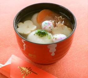 もっちり飾り麩で華やかに!関西風お雑煮