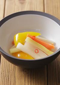 野菜の中華風べんりで酢炒め漬け