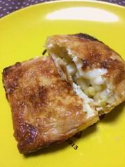 【簡単】さくさくお揚げのコーンチーズ焼きの写真