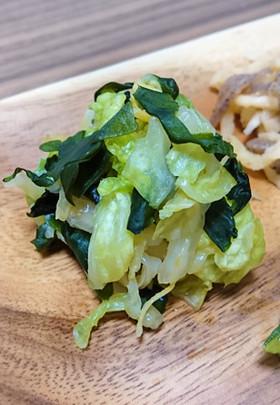 白菜の作り置き5白菜と海藻の柚子胡椒和え