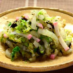 白菜とかまぼこの海苔和え