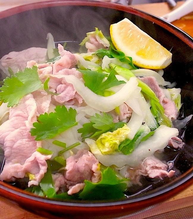 簡単アジア麺☆豚肉と野菜のフォー
