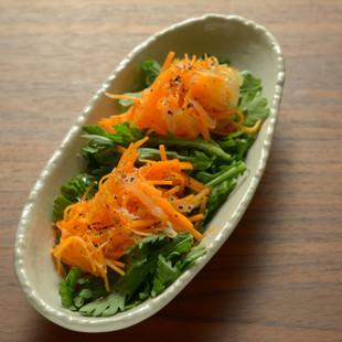 やわらか穂先春菊のマリネサラダ