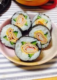 簡単おもてなしに!バラの飾り寿司☆太巻き