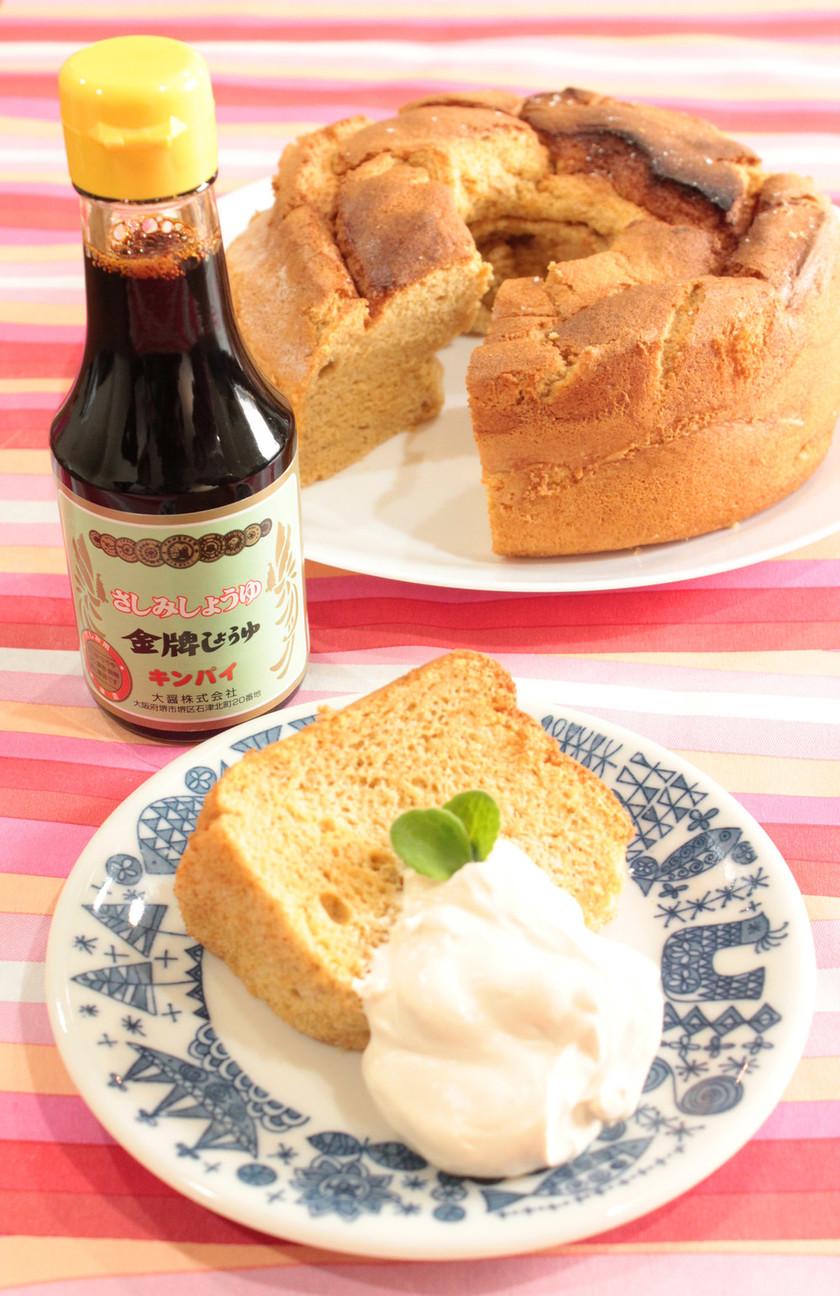 しょうゆと豆腐のふわふわシフォンケーキ