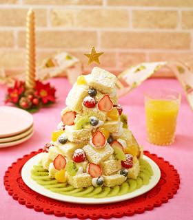 簡単♪華やかクリスマスツリーケーキ