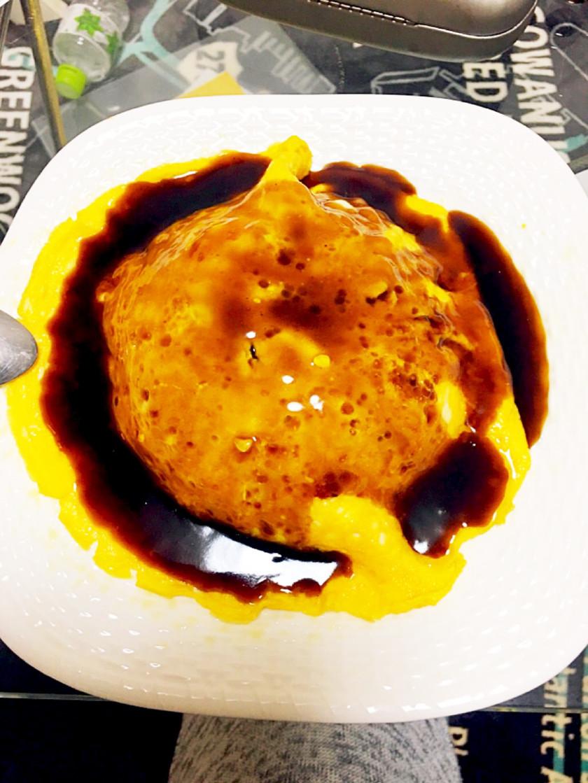 黒酢天津飯