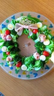 X'mas☆子供も喜ぶ簡単リースサラダ の写真