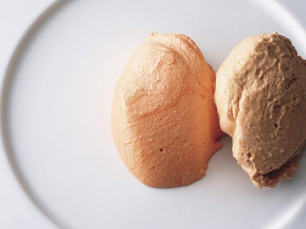 パプリカのムース トマトのムース