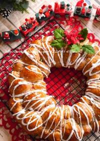 クリスマスリース☆彡ちぎりパン