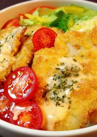 お弁当♡ミラノ風カツレツ丼*チーズソース