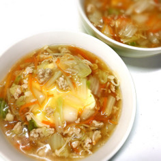 豆腐の野菜あんかけ★うどんのスープで味付
