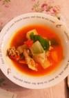 具材たっぷり簡単トマトスープ