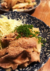 鰹出汁香る豚肉生姜焼き