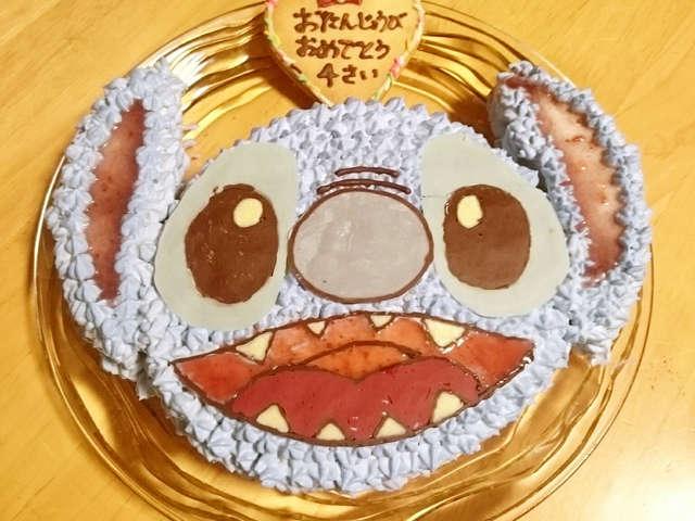 スティッチキャラ立体ケーキ