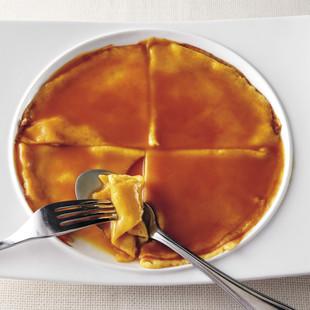 クレープのオレンジソース煮