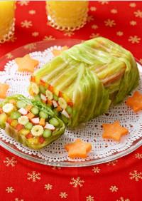 クリスマス☆彩り野菜のゼリー寄せ