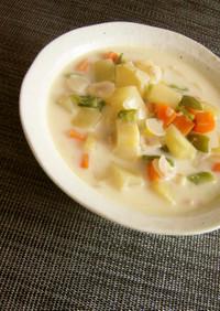 野菜たっぷりミルクスープ。