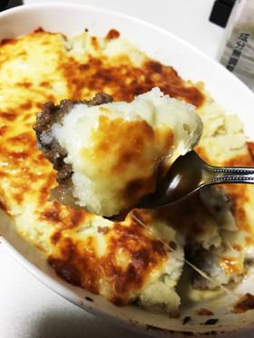 コストコマッシュポテトでひき肉チーズ焼き