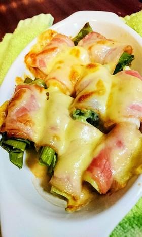 葱のベーコンチーズ焼き♪簡単!